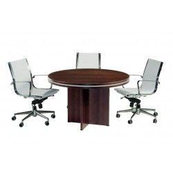 Mesa reunión redonda con base en aspa serie Colina