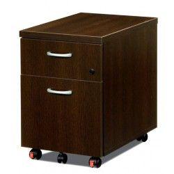 Cajonera de oficina de madera buck de cajón y archivo