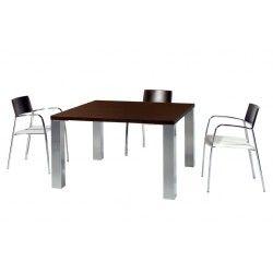Mesa de reuniones estructura 4 patas metálicas serie Senda