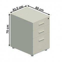 Cajonera alta 2 cajones + archivador serie operativas y alba con cajones metálicos