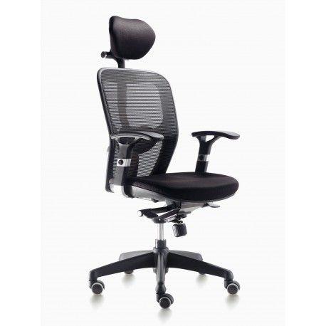 Silla oficina ergonomica operativa Busto con cabecero - Mobiocasión