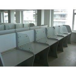 Módulo Call Center 6 puestos separador cristal