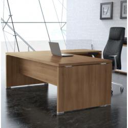 Mesa de despacho con ala KARINA, medidas a elegir, gran grosor