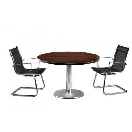 Mesa reunión redonda base cilíndrica