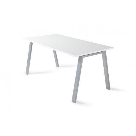 Mesa de oficina 160 cm ATRIO blanco/olmo