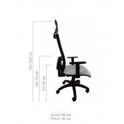 Silla oficina ergonomica operativa giratoria Sena con cabezal