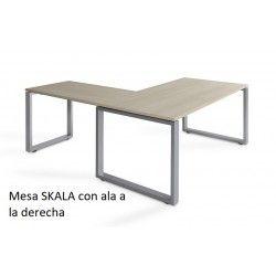 Mesa de oficina con ala SKALA de 160 cm
