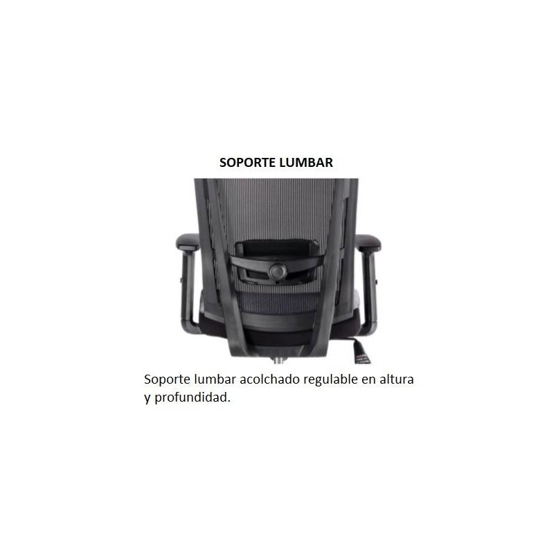 Silla de oficina ergonómica SOFIA de Euromof, cabecero y brazos regulables