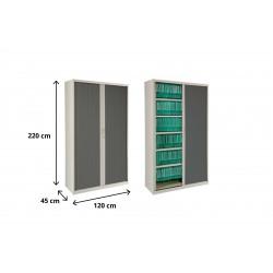 Armario metálico de persiana altura 220 cm ancho 100 o 120 cm