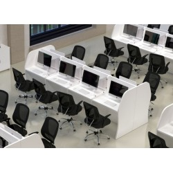Módulo Call Center 8 puestos separador cristal