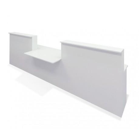 Conjunto Mostrador Recepción Basic Recto Blanco De 340 Cm Módulo Minusválidos