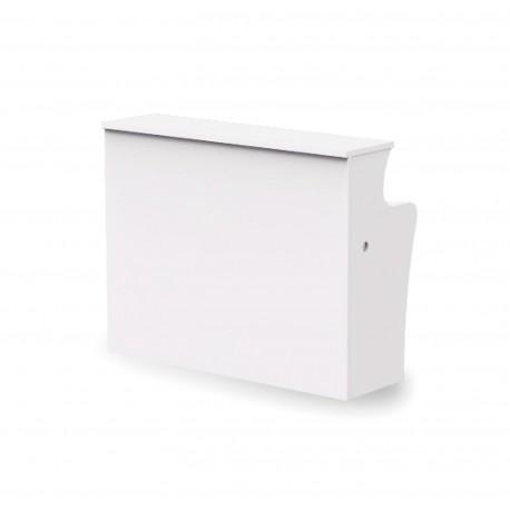 Mostrador de Recepción ROCK BÁSICO 120 cm, color blanco, con pasacables