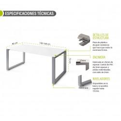 Mesa de oficina SKALA Blanco/Olmo