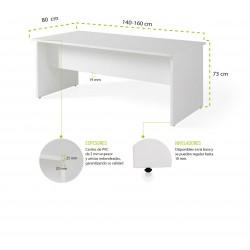 Mesa de oficina Serie COLOR acabado Blanco