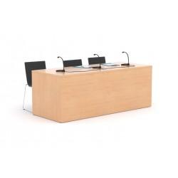 Mesa de conferencias recta, varias medidas disponibles