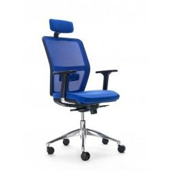 Silla de escritorio ergonómica HIMILCE negra con cabezal uso 8 horas