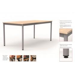 Mesa colectividad rectangular estructura perimetral serie DAI fondo 80 cm