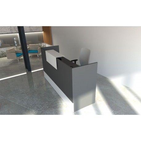 Mostrador de recepción Mobi Grafito 120X60X105 CM