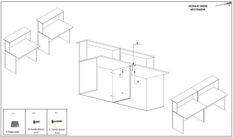 Muebles de oficina granada sillas mesas armarios y for Herrajes para muebles de oficina